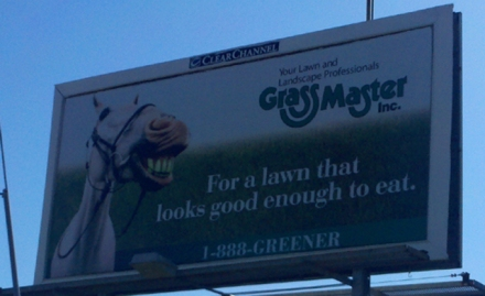 Grass Master Billboard